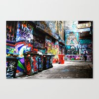 melbourne Canvas Prints featuring Melbourne by Taurin Eimermacher