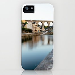The Habour of  Dinan in France iPhone Case