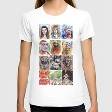 Labyrinth Cast SMALL Womens Fitted Tee White