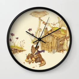 Harvey the Greedy Chipmunk Wall Clock