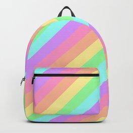 Pastel Rainbow Diagonal Stripes Backpack