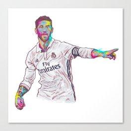 Real Madrid Sergio Ramos Canvas Print