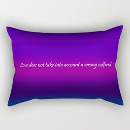 Re-Created Color Field with LOVE 7 by Robert S. Lee Rectangular Pillow