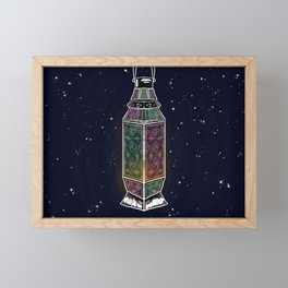 A lantern in space Framed Mini Art Print