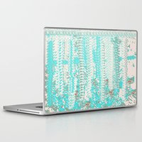 knitting Laptop & iPad Skins featuring Feminine Knitting by Jessielee