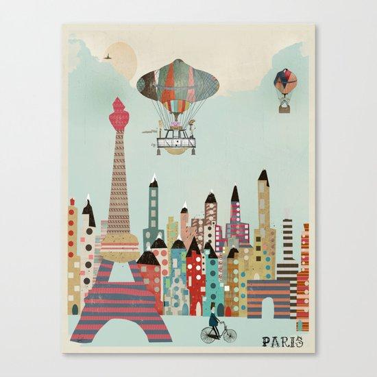 visit paris city Canvas Print