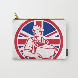 British Artisan Cheese Maker Union Jack Flag Icon Carry-All Pouch