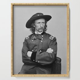 General George Armstrong Custer Serving Tray
