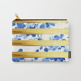 GOLD flower pattern Carry-All Pouch