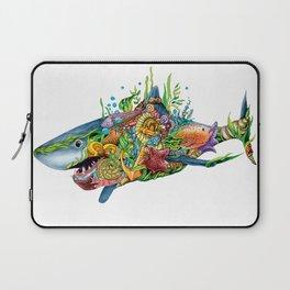Colored Sea Shark Laptop Sleeve