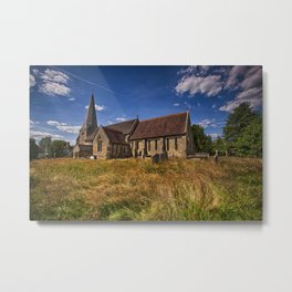 St Andrew and St Mary The Virgin Fletching Metal Print