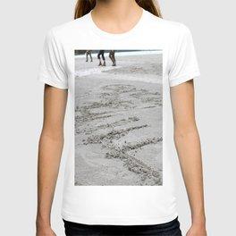 Lake Louise sand writing T-shirt
