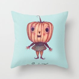 Pumpkin Witch Throw Pillow