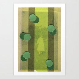 Green Curtain Art Print