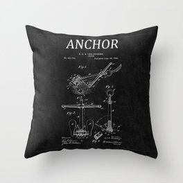 Anchor Patent 2 Throw Pillow