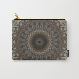 Mandala in warm brown and gray tones Carry-All Pouch