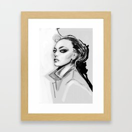 Sensual darkness Framed Art Print