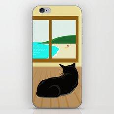 Landscape and cat iPhone Skin