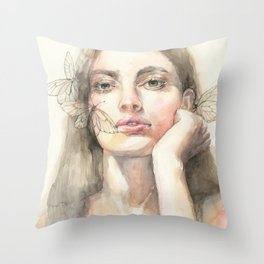 The Rebirth of the Cicada Throw Pillow