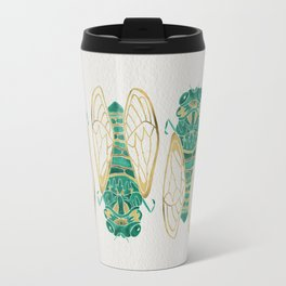 Cicada – Green & Gold Travel Mug