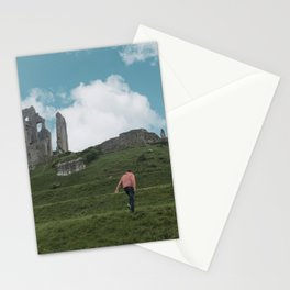Corfe Castle and the Sky medieval Stationery Cards