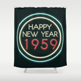 Happy New Year 1959! Shower Curtain
