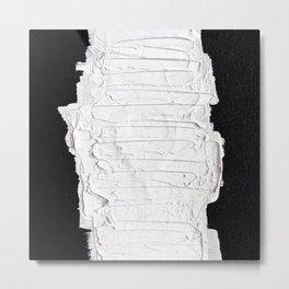 Black, White & White Metal Print