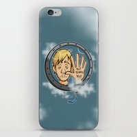 baloon iPhone & iPod Skins featuring Charlie baloon by Arry Design
