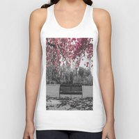 cherry blossom Tank Tops featuring Cherry Blossom by Claire Doherty