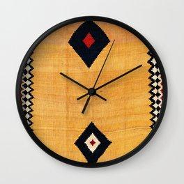 Qashqa'i Fars Southwest Persian Kilim Print Wall Clock