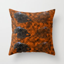 Farmyard Mortality (Meat for Sale) Throw Pillow