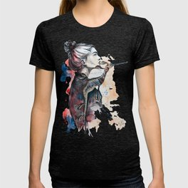 seehorse by carographic T-shirt