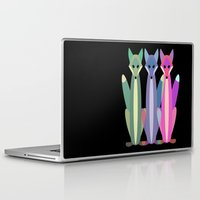 foxes Laptop & iPad Skins featuring Foxes by TypicalArtGuy