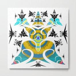 World of Awe and Pure Force Tibetan Inspired Meditation Pattern Metal Print