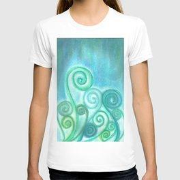 Pastel Blue Curls  T-shirt
