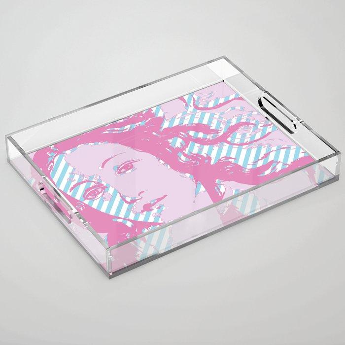 Rebirth of Venus - Pink & Cyan - Trans Pride! Acrylic Tray