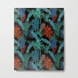 Vintage Tropical pattern Metal Print
