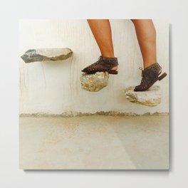Feet in Greece Metal Print