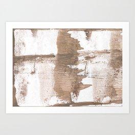 Gray brown Art Print
