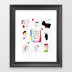 Verdad Framed Art Print