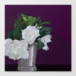 Julep & Gardenias Canvas Print