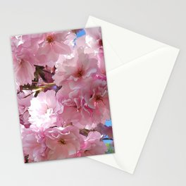 Pink blossom in spring time flower photography Stationery Cards