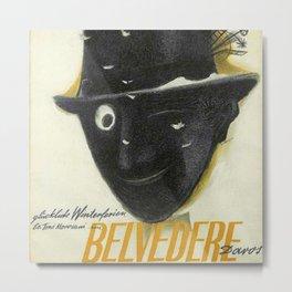 Rare WWII Issue Hotel Belvedere, Davos, Switzerland Advertising Poster Metal Print