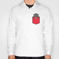 pocket Hoodies featuring Pocket Rhino by Steven Toang