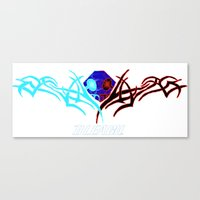 bleach Canvas Prints featuring Bleach Logo by winterknight