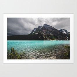 Mountain Photography Landscape Glaciers Turquoise Lake Water Beautiful Nature Art Print
