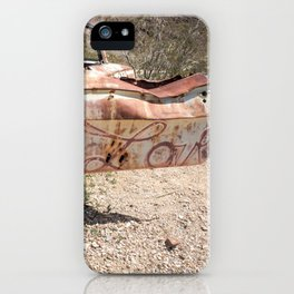 Love's Out the Door iPhone Case