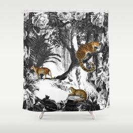 Leopard & Landscape Shower Curtain