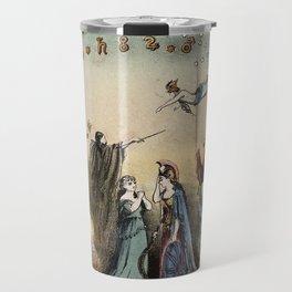Raphael's Prophetic Almanack: an shipwreck, Cholera, and Hibernia with Britannia (1872) Travel Mug