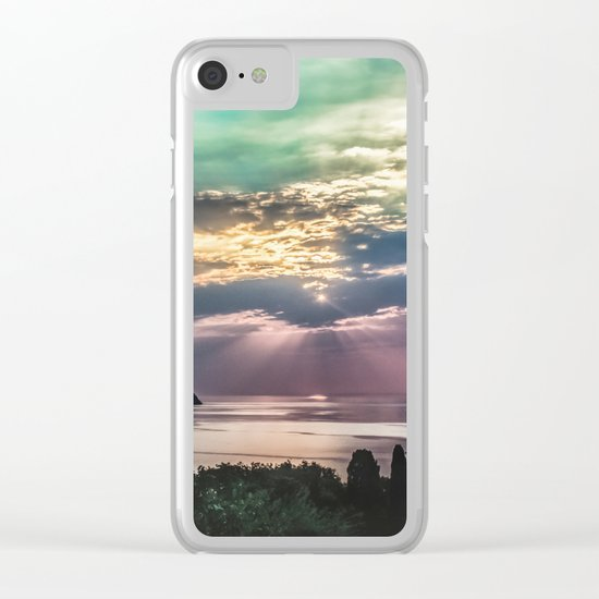 Cloudy sunrise Clear iPhone Case